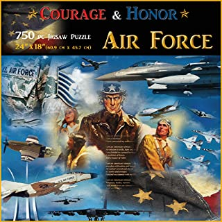 Americana Souvenirs and Gifts Courage and Honor Air Force Puzzle