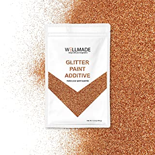 Glitter Paint Additive for Paint-Wall Interior/Exterior, Ceiling, Wood, Metal, Varnish, Dead Flat, DIY Art and Craft 150g/5.3oz + 1PC Free Buffing PAD (Copper)