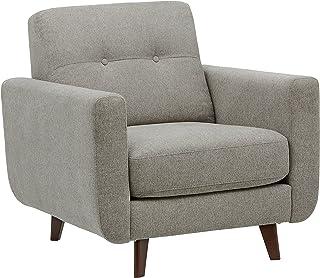 "Amazon Brand – Rivet Sloane Mid-Century Modern Living Room Armchair, 32.7""W, Pebble Grey"