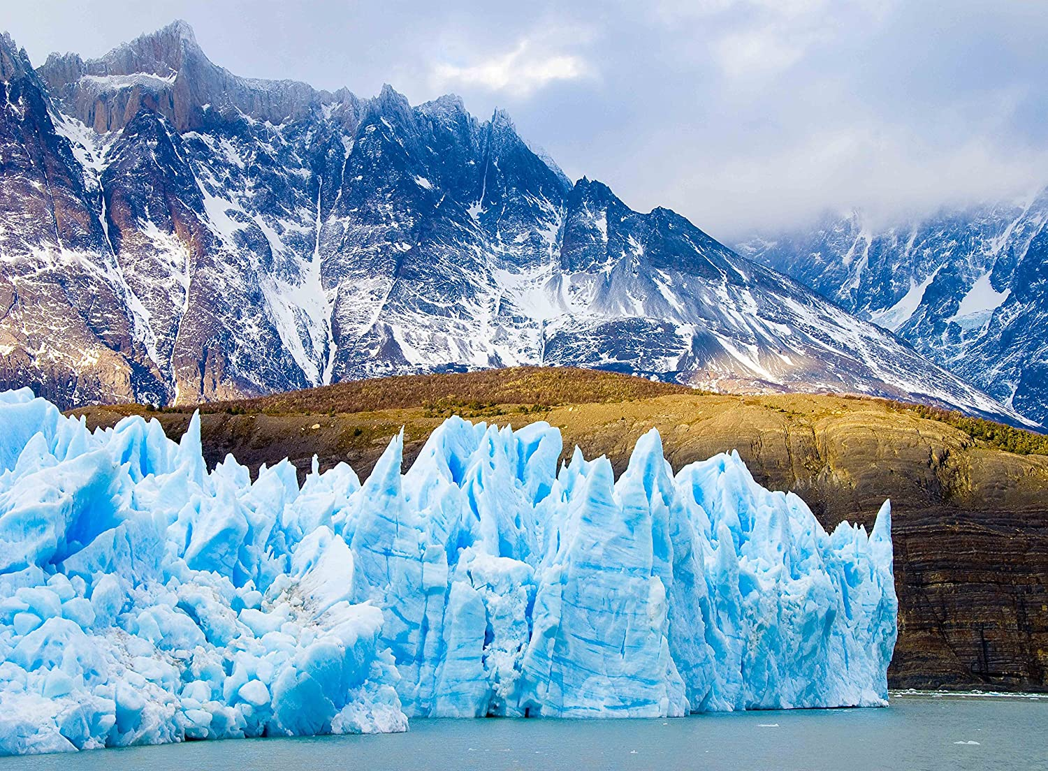 Adult Jigsaw Puzzle Alaska Mountains Ice Burg Glaciers Nature 500Pieces