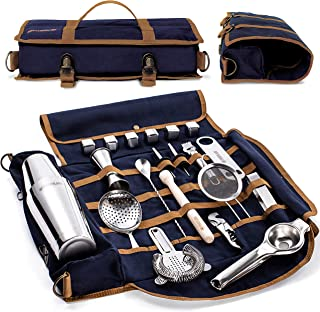 Mixology Bartender Kit - 22 Pieces Complete Barware Tool Sets with Cocktail Shaker | Bar Tools Bartender Tool Kit in Folda...