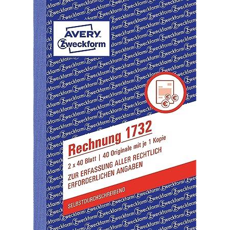 Sigel Re625 Rechnungen A6 2x50 Blatt 1 Stück Bürobedarf Schreibwaren