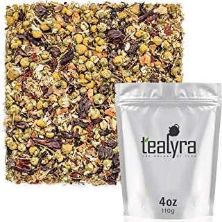 Tealyra - Chamomile Ginger Comfort - Hibiscus - Herbal Loose Leaf Tea - Calm and Relaxing - Sleep Tea - Caffeine-Free - All Natural Ingredients - 110g (4-ounce)