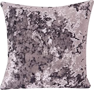 Moulin Deep Crushed Velvet 17 X 17in Reversible Cushion Cover in Lavender