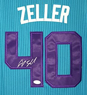 Cody Zeller Charlotte Hornets Signed Autographed Teal #40 Jersey JSA COA