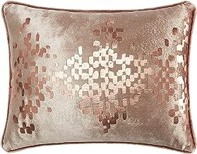 Casa Distressed Metallic Geo Dec Pillow Oblong Copper