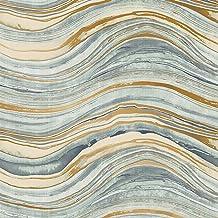 Tempaper Travertine, Aquamarine & Gold, Removable Peel and Stick Wallpaper, Single Roll (28 sq. ft.) – DIY, Self Adhesive,...