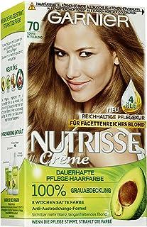 Garnier Nutrisse Crème Coloration Toffee Medium Blond 70 / kleuring voor haar voor permanente haarkleur (met 3 voedende ol...