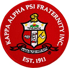 Kappa Alpha Psi Fraternity Seal Embroidered Appliqué Patch Sew or Iron On Greek Blazer Jacket Bag Nupe