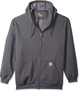 Carhartt Mens Big and Tall Big & Tall Midweight Zip Front Hooded Sweatshirt K122