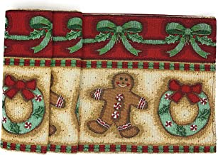 DaDa Bedding Gingerbread Sweets Table Runner - Festive Cookies Christmas Holiday Tapestry - Cotton Linen Woven Dining Mats (12917) (13x72)