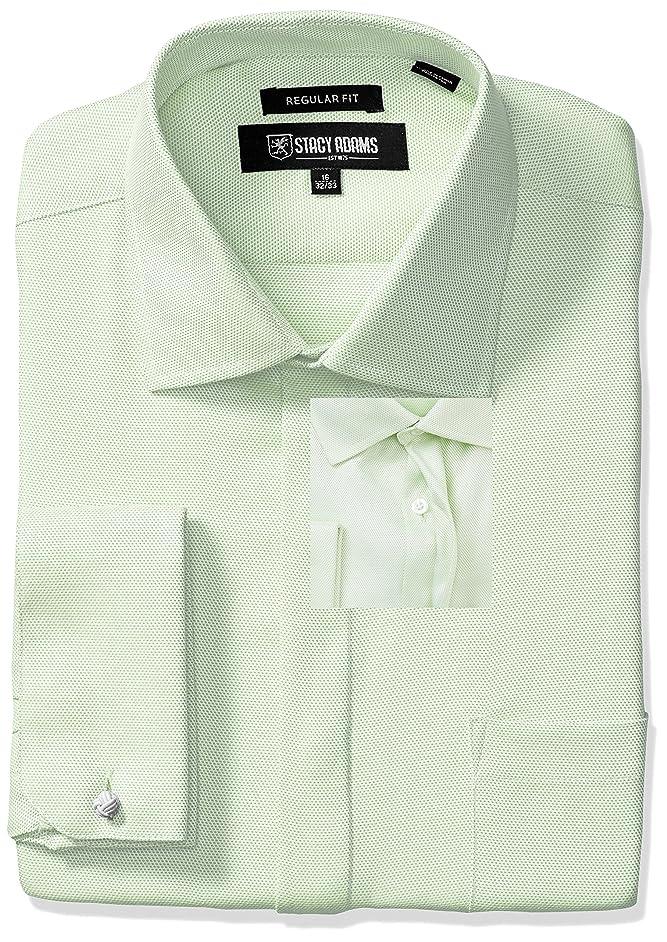 STACY ADAMS Men's Textured Solid Dress Shirt