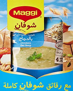 Maggi Chicken Oat Soup, Box of 12 Pieces (12 x 65g)