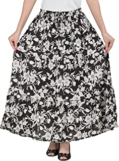 COTTON BREEZE Women's A-line Skirt (Black)