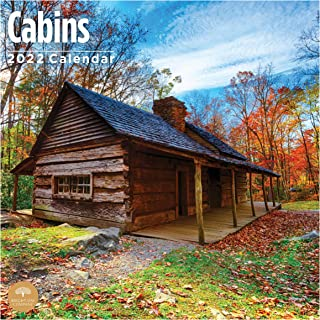 2022 Cabins Wall Calendar by Bright Day, 12 x 12 Inch, Country Side Camping
