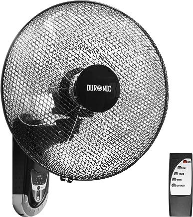 Duronic FN55 Ventilador de Pared 5 Aspas Hélice de 40 cm y 60 W de Potencia - Oscilante - 3 Velocidades - Mando a Distancia - Temporizador - 2 Unidades Ventiladores de Pared