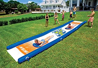 WoW Watersports 18-2200 Mega Slide, Backyard Waterslide, High Side Walls, 25 Feet x 6 Feet, Includes Hand Pump (Renewed)