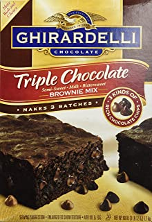 Ghirardelli Triple Chocolate Brownie Mix (Makes 3 Batches, 60 OZ box)