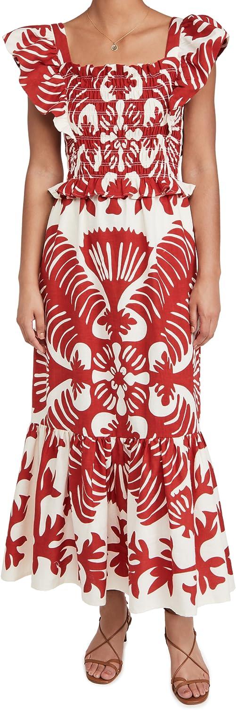SEA Women's Henrietta Print Smocked Dress