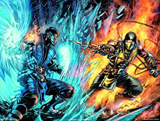 Trends International Mortal Kombat - Scorpion Comic Wall Poster, 22.375