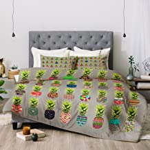Deny Designs Bianca Green Pineapple Party Comforter Set, Queen