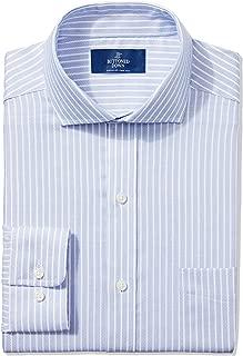 Amazon Brand - BUTTONED DOWN Men's Classic Fit Stripe Dress Shirt, Supima Cotton Non-Iron