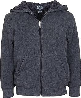 Boys Fleece Full-Zip Hooded Sweatshirt with Sherpa Lining