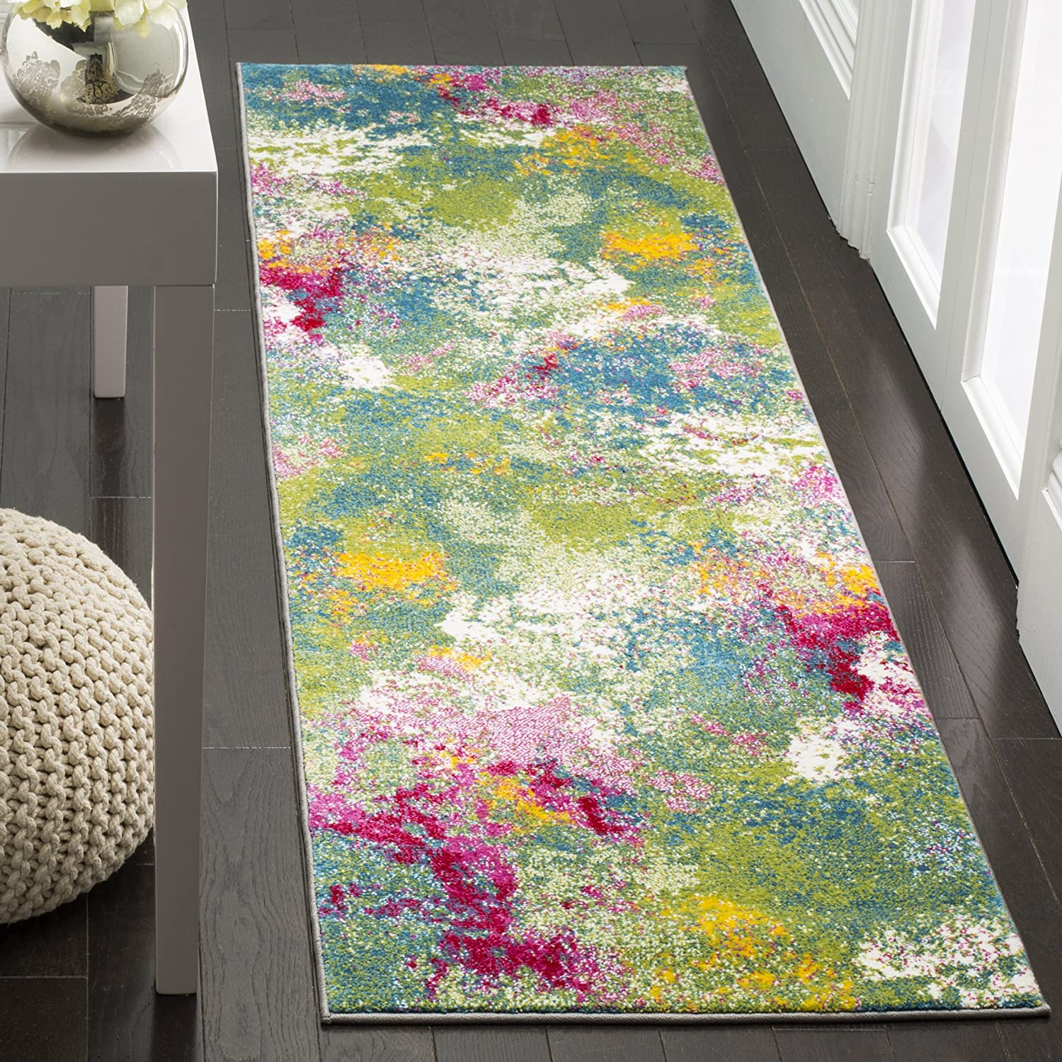 Safavieh Rapid rise Max 78% OFF Watercolor Collection WTC697C No Boho Colorful Abstract