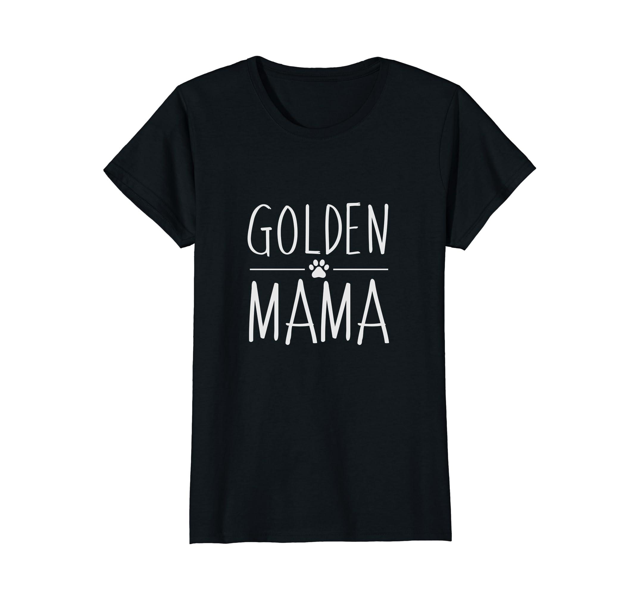 Womens Golden Retriever Mama Graphic Tee | Dog Mom Shirts for Women-AZP