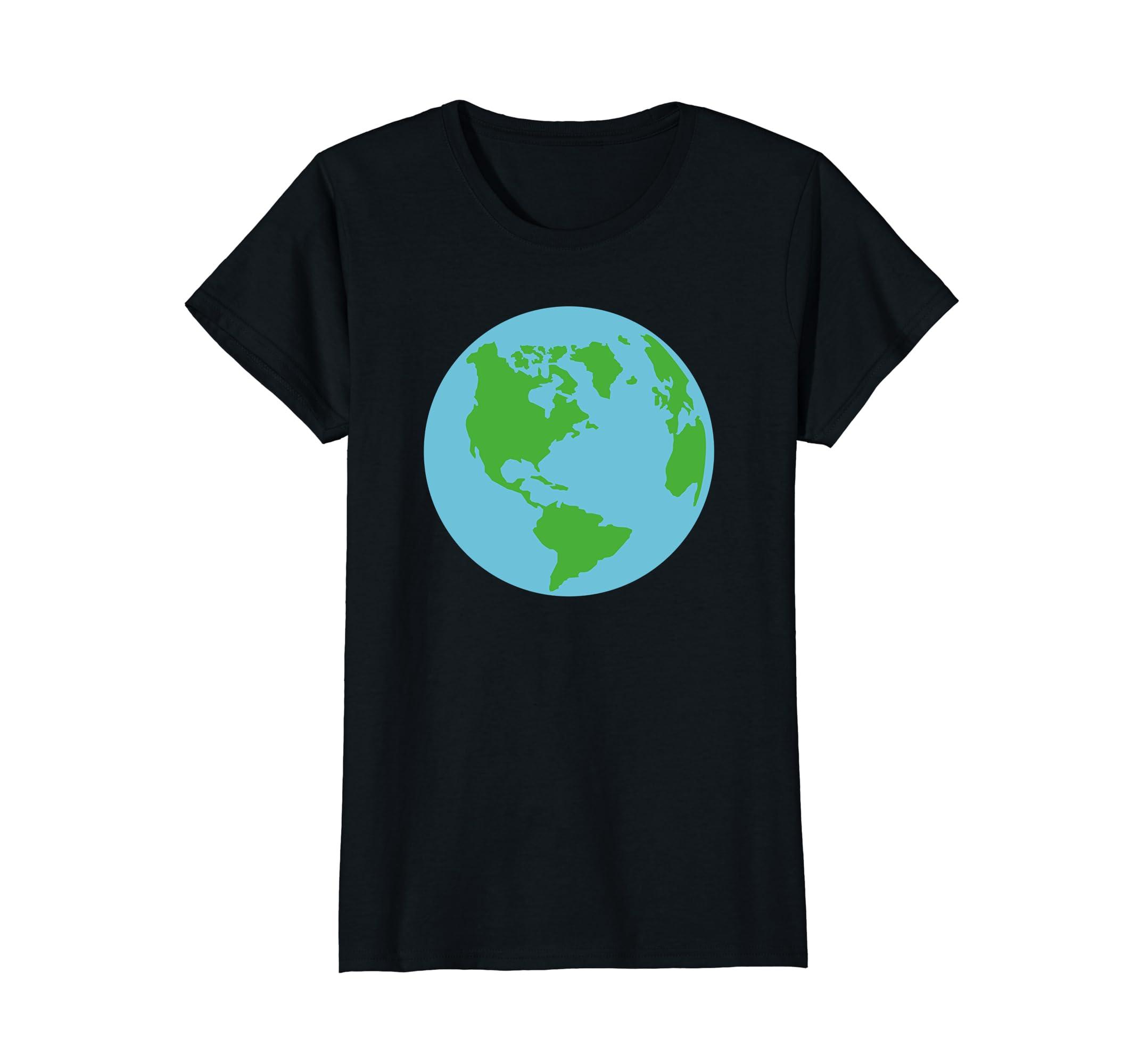 Amazon Com Globe World Map T Shirt Clothing