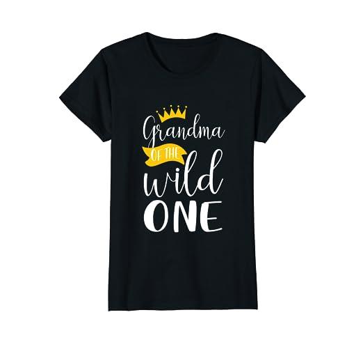 Womens Awesome 1st Birthday Grandma Of The Wild One Matching Shirts