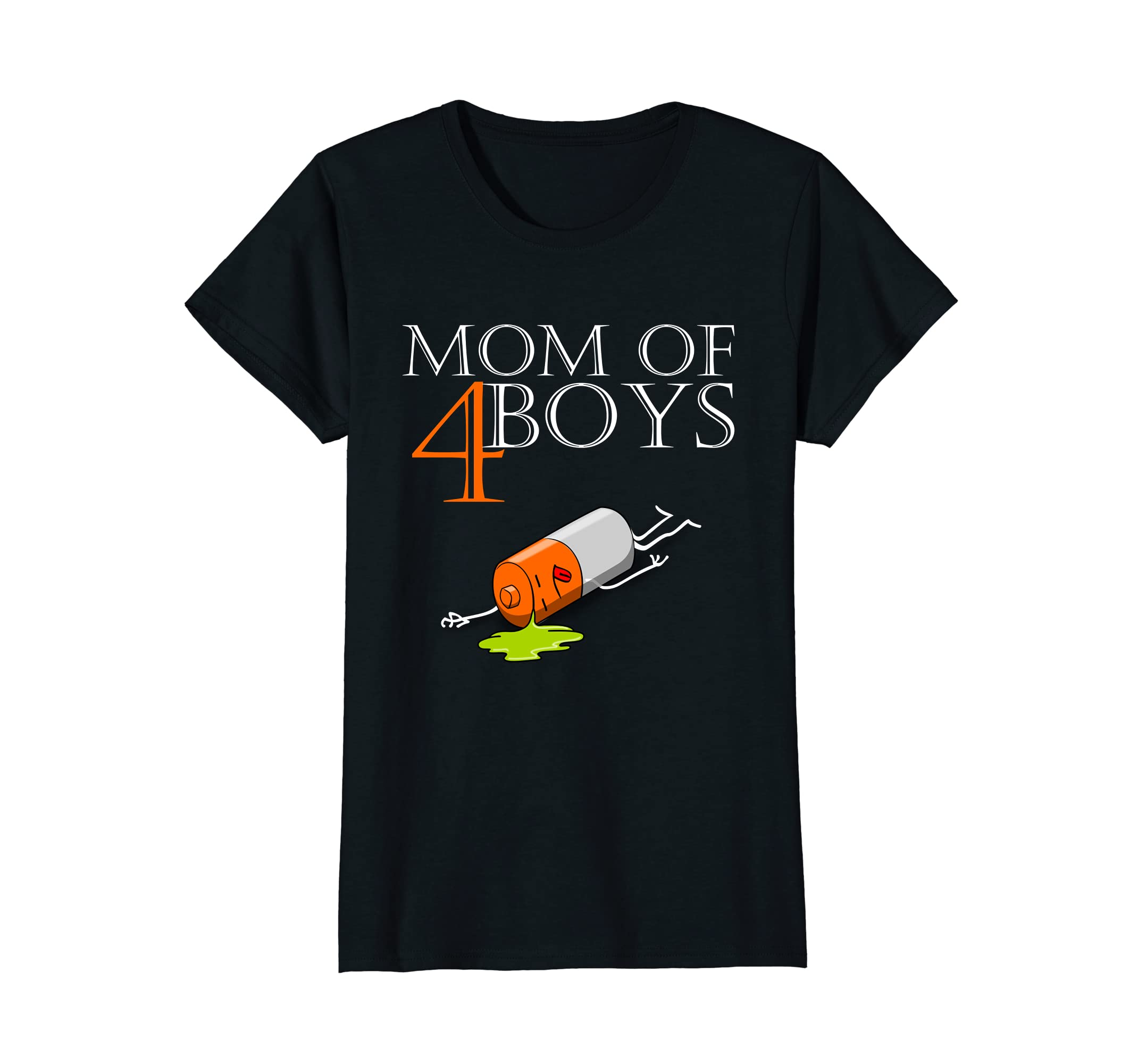Womens mom of 4 boys - Funky Shirt for mothers with four sons-ah my shirt one gift