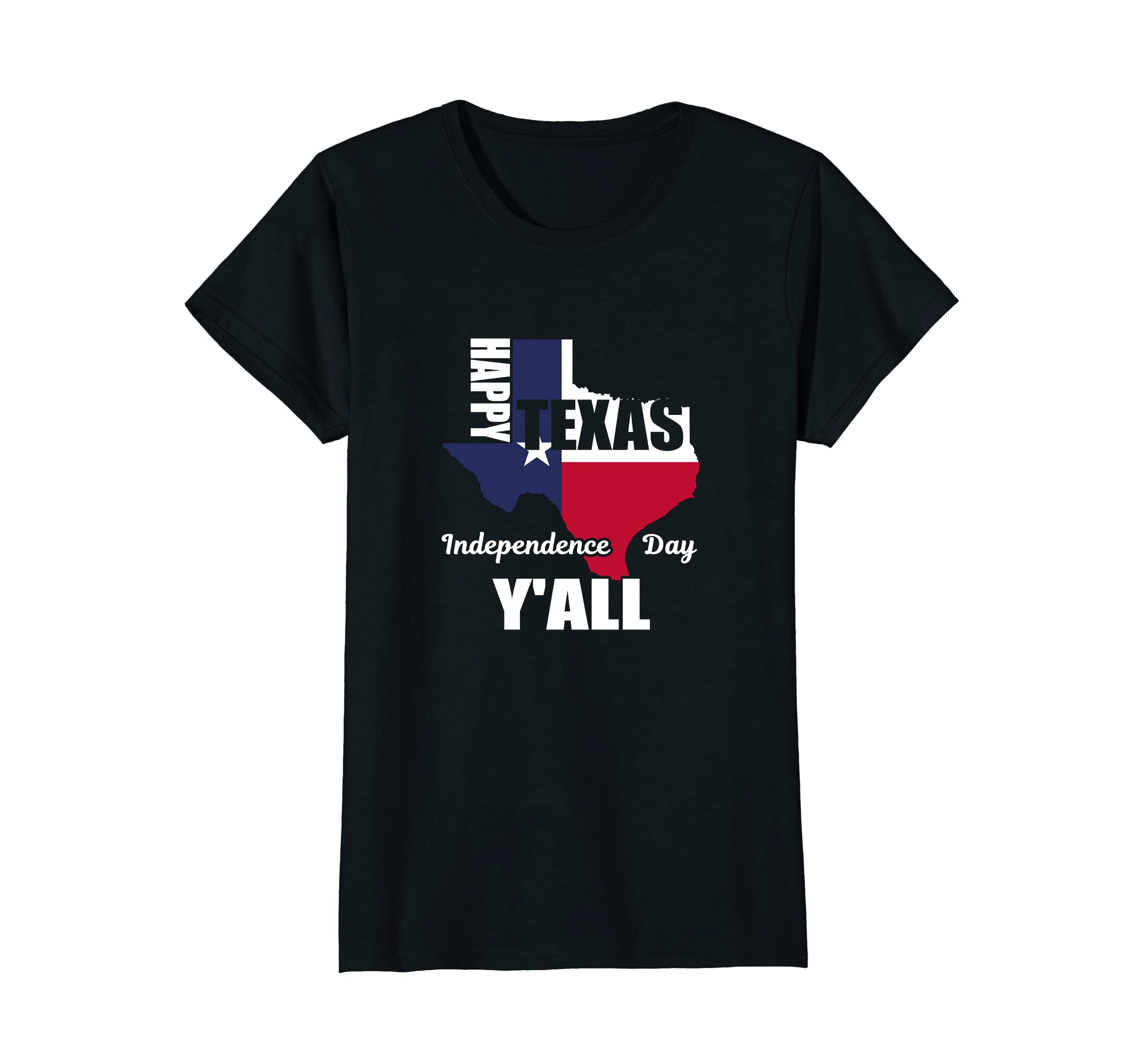 fbecfcf6 Amazon.com: Happy Texas Independence Day Y'all T-Shirt | USA Cowboy ...
