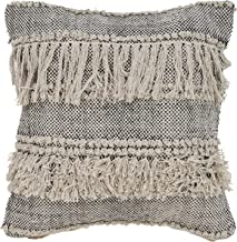 L.R. Resources PILLO07319NBKFFPL Zanthia Be Speckled Indoor Throw Pillow, 20 x 20, Natural/Black