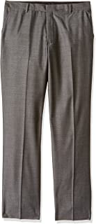 Calvin Klein Boys' Patterned Flat Front Dress Pant