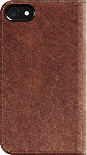 Nomad Horween Leather Folio Case for iPhone 7 - with Cards and Cash Pockets - Rustic Brown