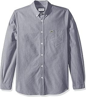 Men's Long Sleeve Oxford Collar Regular Fit Woven Button Down Shirt