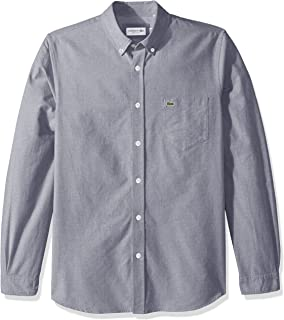 Lacoste Men's Long Sleeve Oxford Button Down Collar...
