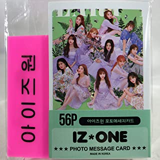 IZ*ONE IZONE アイズワン グッズ / フォト メッセージカード 56枚 (ミニ ポストカード 56枚) + ネームプレート (名札) セット - Photo Message Card 56pcs (Mini Post Card 56pcs) + Name Plate [TradePlace K-POP 韓国製]