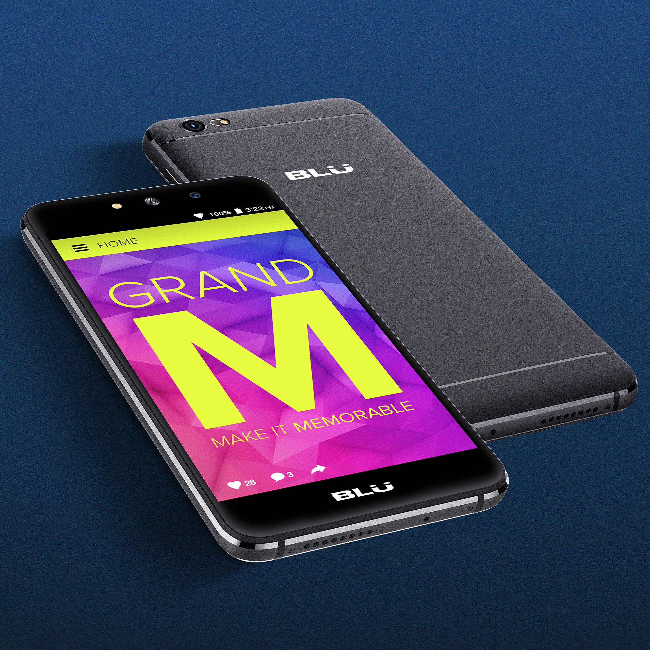 BLU Grand M -Smartphone Libre Doble SIM -Negro: Amazon.es: Electrónica