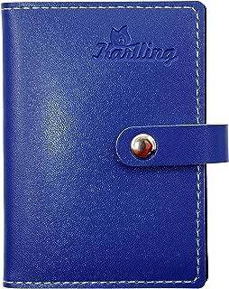 Karlling Slim Minimalist Soft Leather Mini Case Holder Organizer Wallet for 20 Credit Card(Dark Blue)