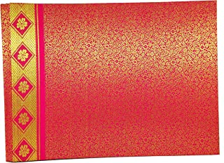 Handcrafted Brocade Fabric Photo Album Large (Sheet Size: 34cms x 24 cms)