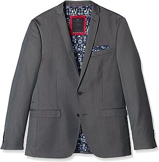 TOM TAILOR Men's Blazer Grey Grau (tarmac grey 2983) 36R
