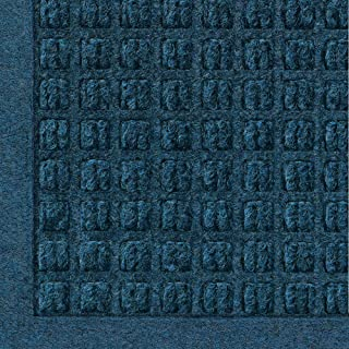 WaterHog Fashion Commercial-Grade Entrance Mat, Indoor/Outdoor Charcoal Floor Mat 6' Length x 4' Width, Navy by M+A Matting