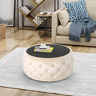 Best leather ottoman with glass top Reviews
