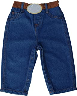 Western Oval Buckle Jeans for Infant Baby Toddler (0-6 Months)