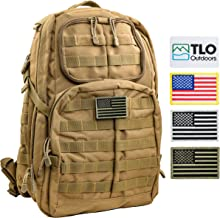 TLO TacPack24 - Tactical Rush Backpack with MOLLE System, Hydration Pocket, 40L Storage