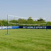 Freestanding Badminton/Volleyball Combi Posts [Optional Nets]   Portable Steel Posts