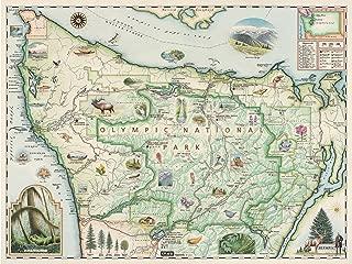 Xplorer Maps Olympic National Park Map - Map Art