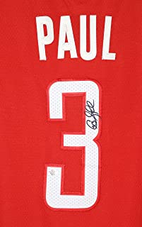 Chris Paul Houston Rockets Signed Autographed Red #3 Jersey PAAS COA